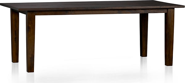 Basque Java 82 Quot Dining Table Crate And Barrel