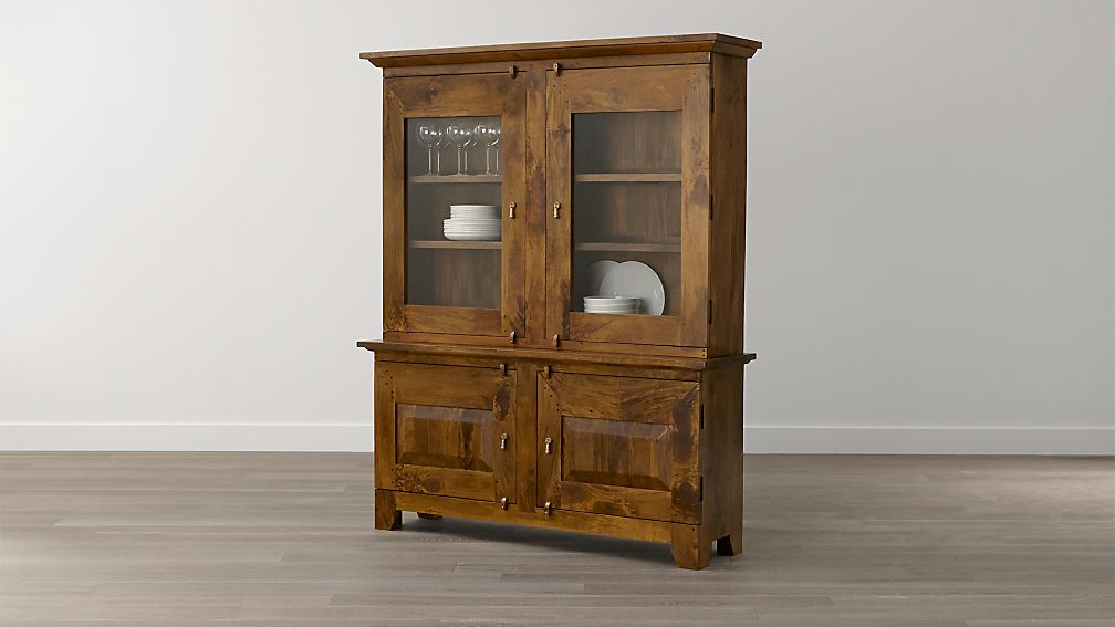 Basque Honey Buffet With Hutch Top In Buffets Sideboards Reviews