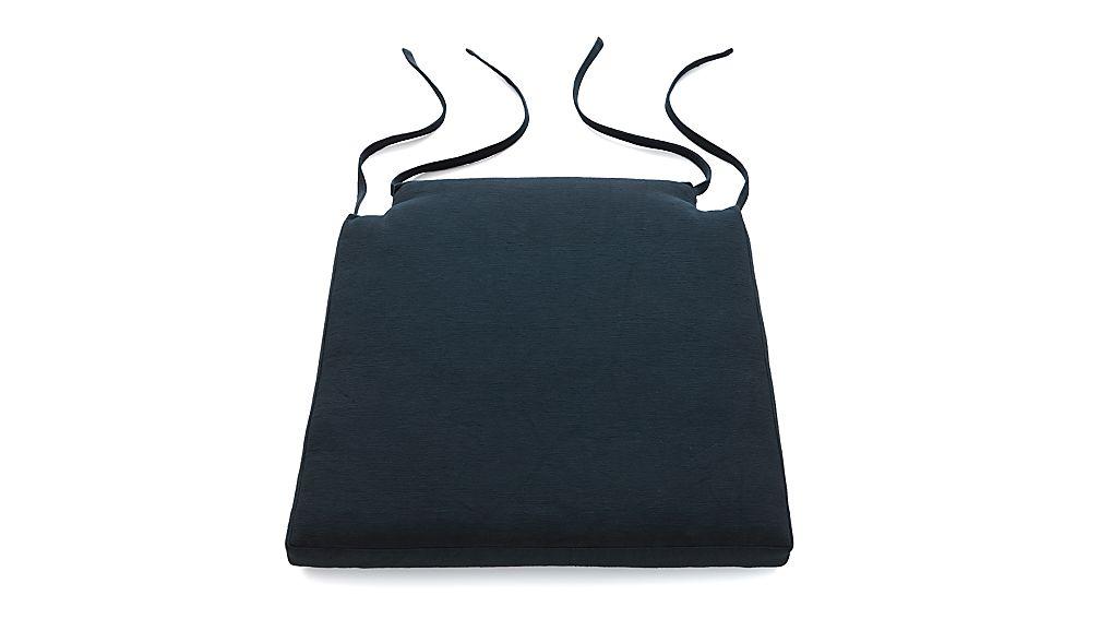basque navy chair bar stool cushion reviews crate and barrel