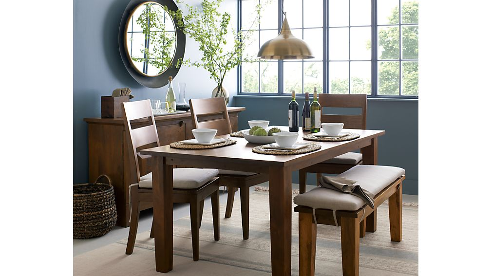 Basque Java Round High Dining Table | Crate and Barrel
