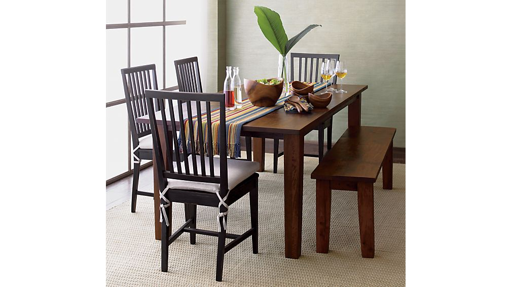 Village Bruno Black Wood Dining Chair and Natural Cushion | Crate ...