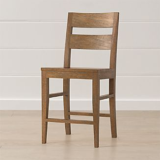 Basque Grey Wash Counter Stool