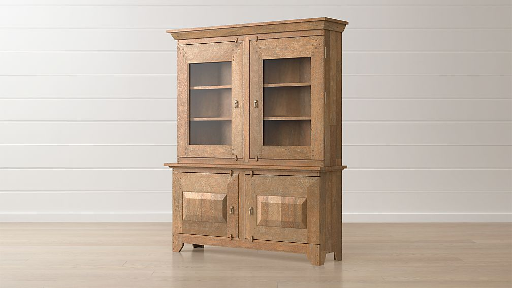 Basque Grey Wash Buffet with Hutch Top
