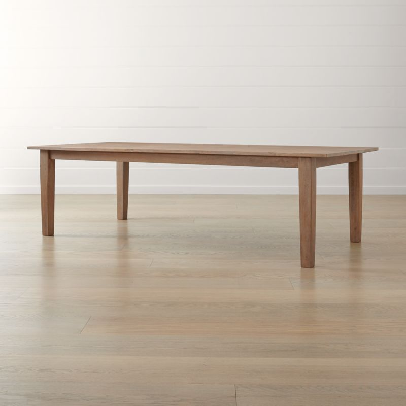 "Basque Grey Wash 104"" Dining Table + Reviews"