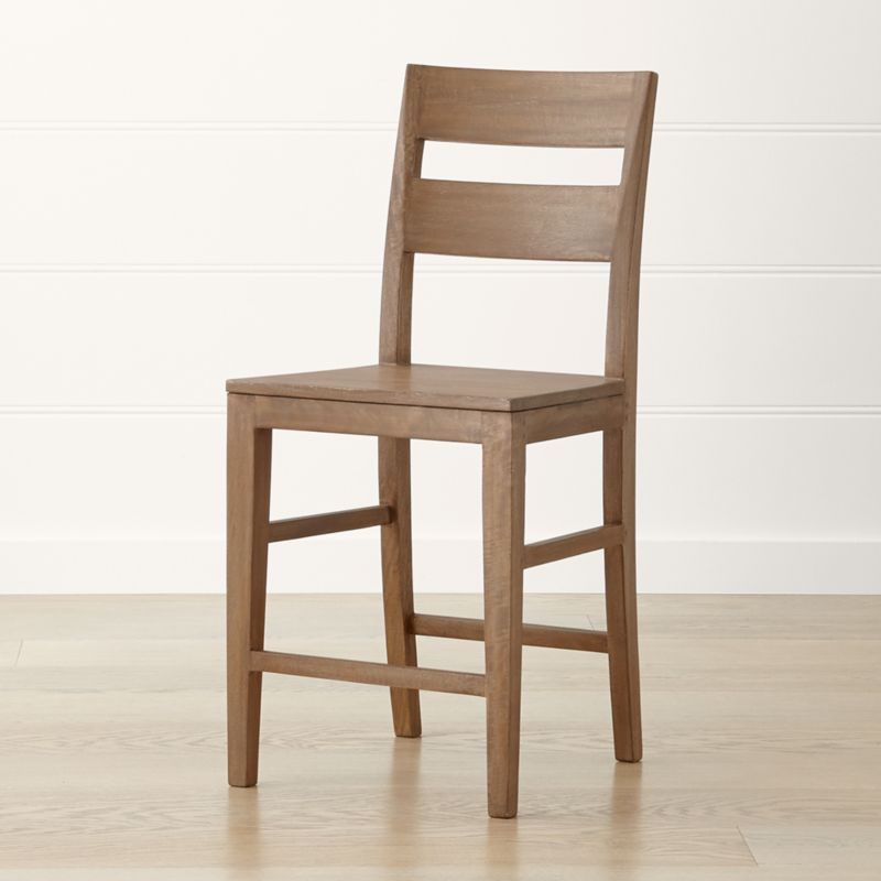 Basque Grey Wash Counter Stool Crate And Barrel