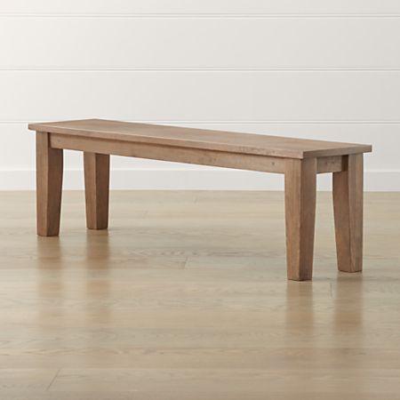 Pleasant Basque Grey Wash 62 Bench Lamtechconsult Wood Chair Design Ideas Lamtechconsultcom