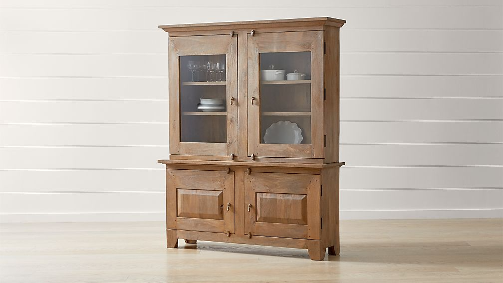 Basque Grey Wash Buffet With Hutch Top In Buffets Sideboards Reviews