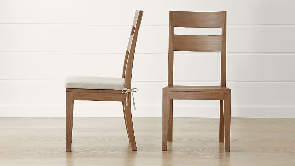 Basque Grey Wash Side Chair and Cushion - Image 1 of 7