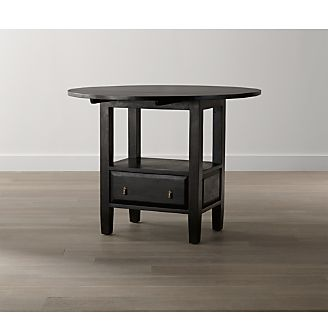Basque Java Round High Dining Table. Clearance   Outlet Furniture  Sofas and Dining Tables   Crate and