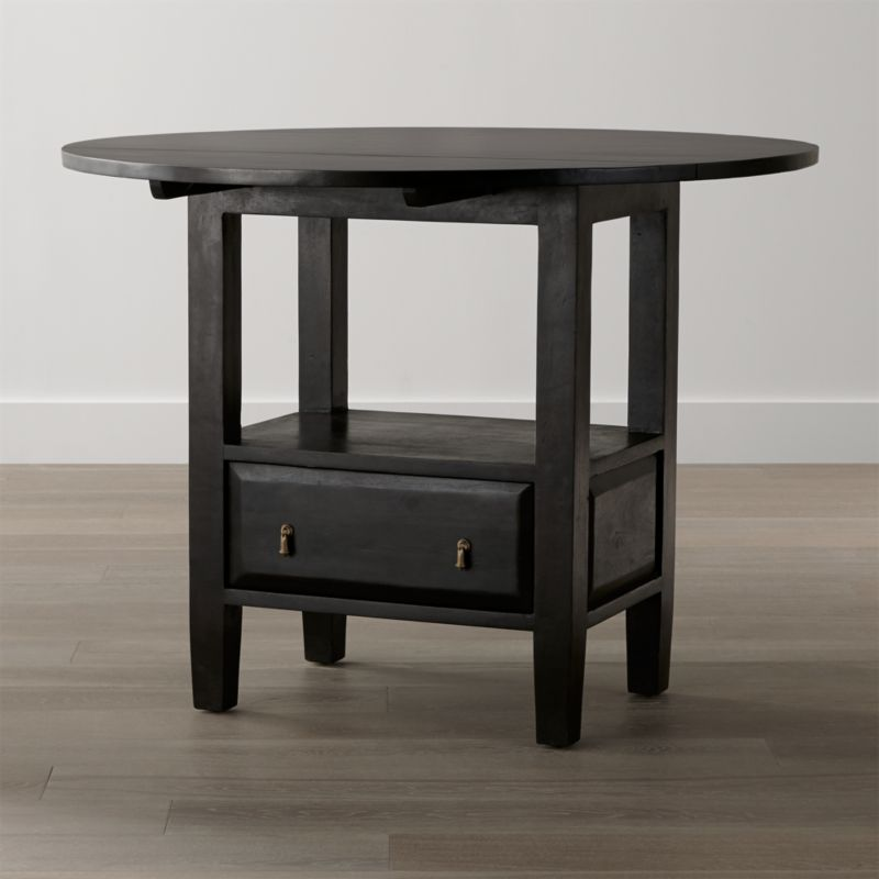 Basque Java Round High Dining Table