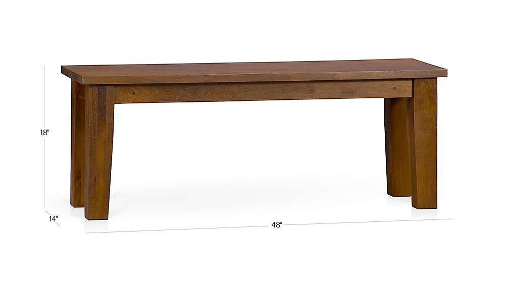 Basque Honey 48 Quot Bench Reviews Crate And Barrel