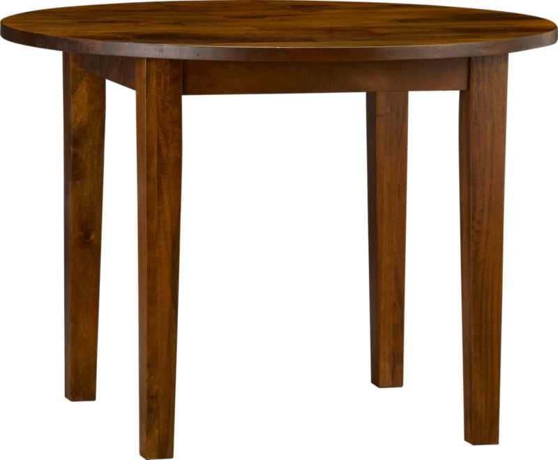 Hand-hewn, compact table has the heft and character of European farmhouse antiques. The simple, rustic design has substantial legs and a hand-planed plank top with authentic peg detailing on the table. Open grain and knots are unique to each piece. The rich honey finish is waxed to a soft sheen.<br /><br /><NEWTAG/><ul><li>Handcrafted</li><li>Sustainable, kiln-dried solid mango wood</li><li>Rich honey finish</li><li>Naturally occurring grain and knots</li><li>Tongue and groove joinery</li><li>Table seats up to four</li></ul>