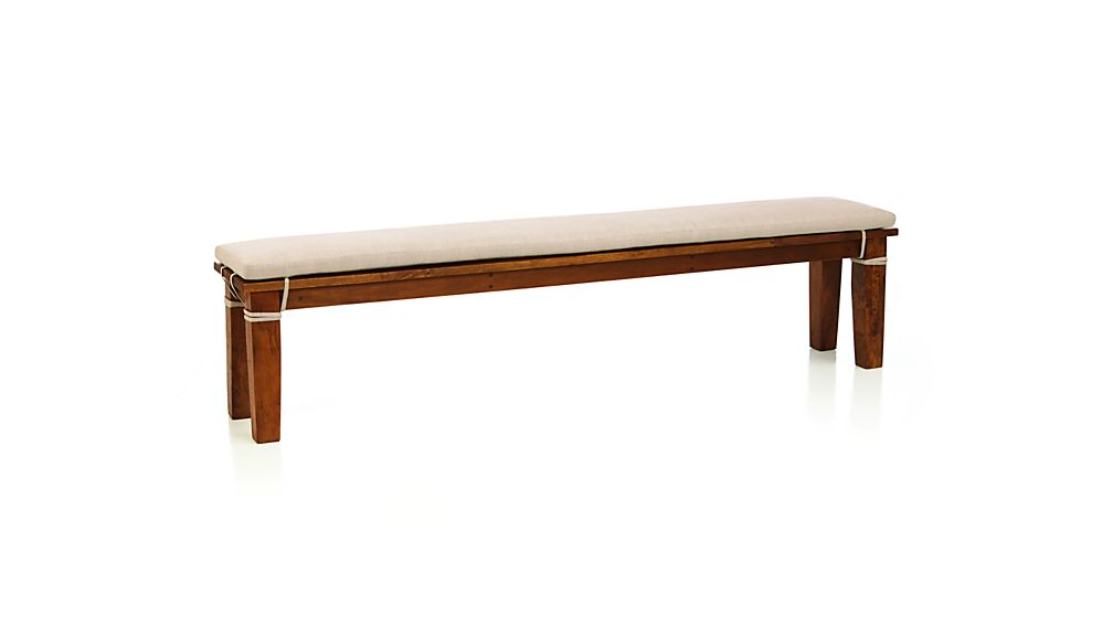 Basque Natural 62 Quot Bench Cushion Reviews Crate And Barrel
