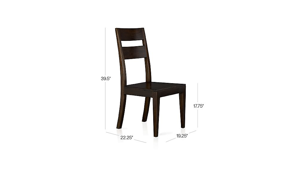 Basque Java Wood Dining Chair Crate And Barrel