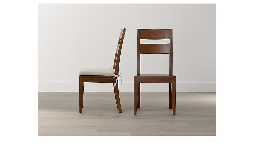 Basque honey wood dining chair reviews crate and barrel