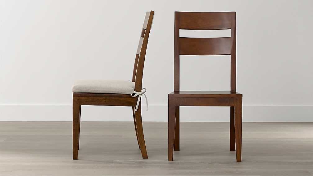 Basque Honey Wood Dining Chair And Cushion Crate And Barrel