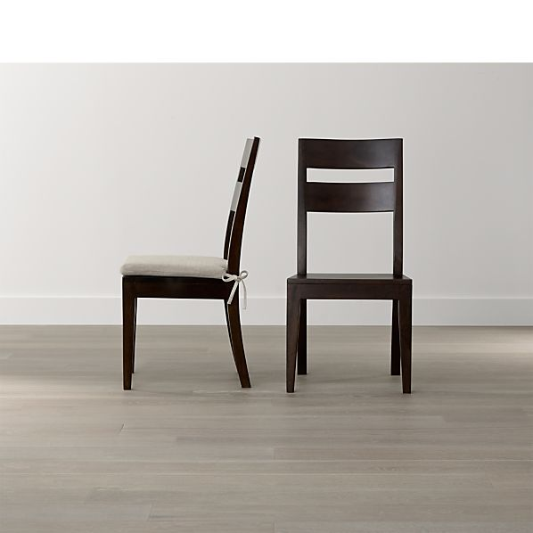 Basque Java Wood Dining Chair and Cushion