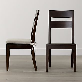 gerards furniture fireplace basque java wood dining chair new clearance and outlet crate barrel