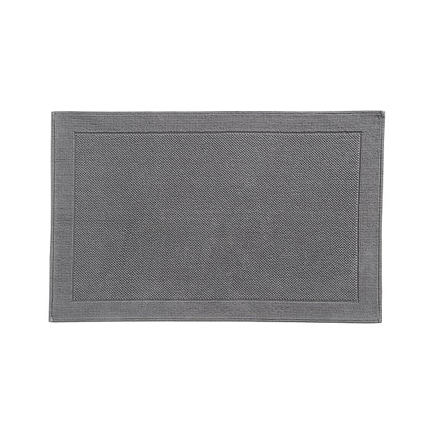 Crate And Barrel Bath Rugs: Westport Grey Bath Rug + Reviews
