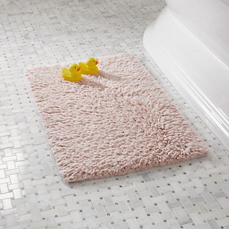 Pink Bath Rug Reviews Crate And Barrel