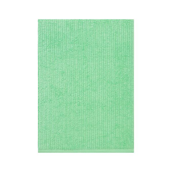 Ribbed Mint Bath Sheet