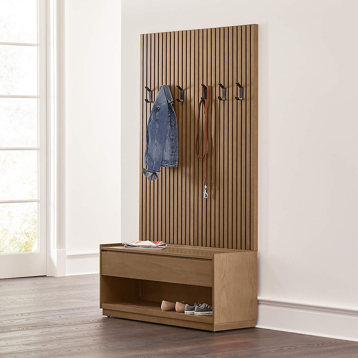 Batten Storage Bench And Panel Set Reviews Crate And Barrel