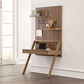 Batten Wall-Mounted Desk Office Set
