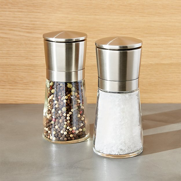 bavaria salt and pepper mills crate and barrel. Black Bedroom Furniture Sets. Home Design Ideas