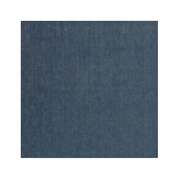 Baxter Blue Wool 8' sq. Rug