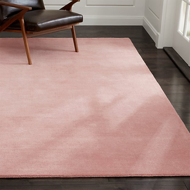 Baxter Blush Pink Wool Rug 9 X12 In Area Rugs Reviews
