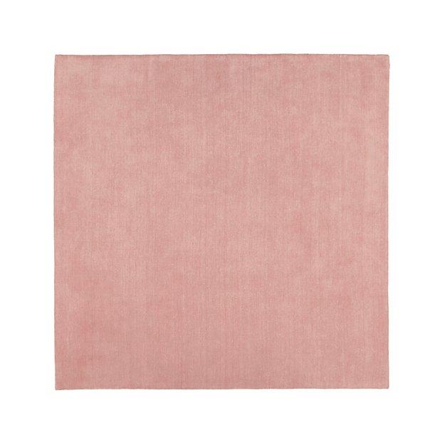 Baxter Blush Wool 8' Square Rug