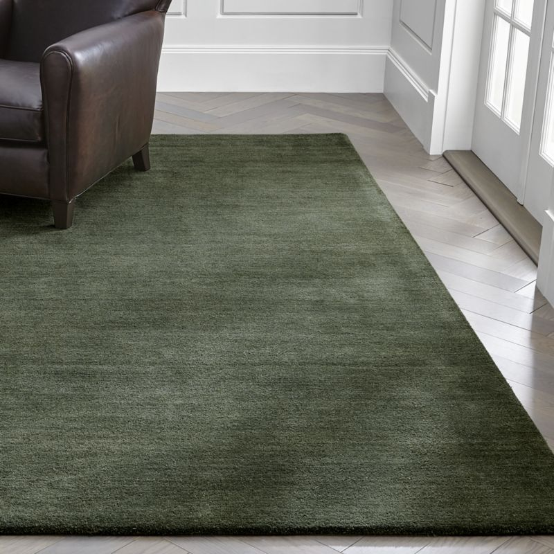Baxter Bronze Green Wool Rug Crate And Barrel