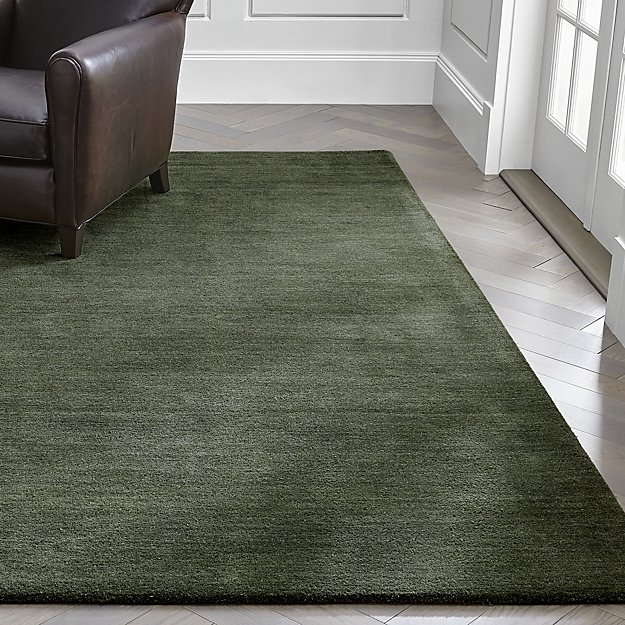 Baxter Bronze Green Wool Rug