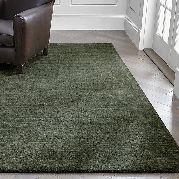 Baxter Bronze Green Wool Rug - Image 1 of 4
