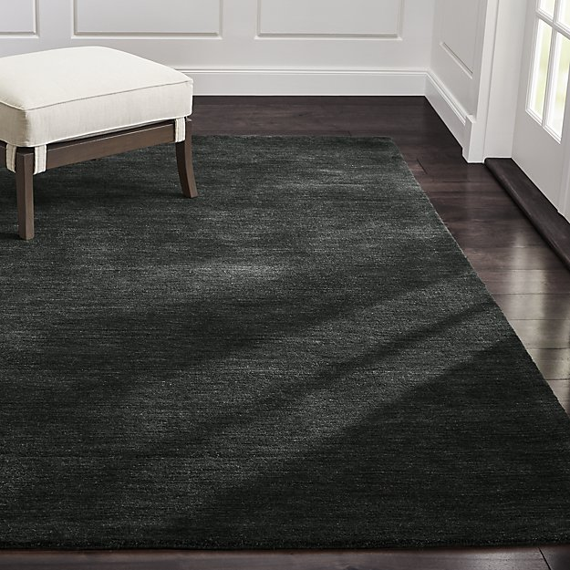 Baxter Carbon Grey Wool Rug - Image 1 of 9