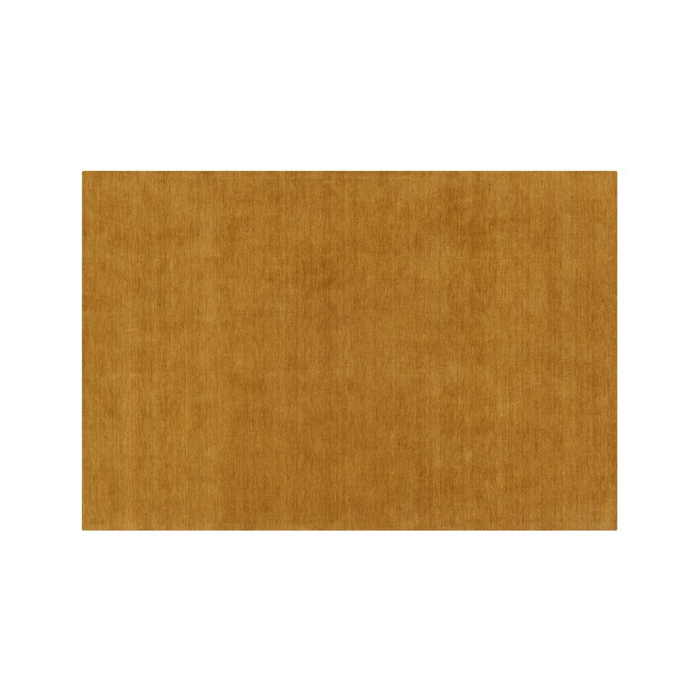 Baxter Gold Yellow Wool 5'x8' Rug - Crate and Barrel