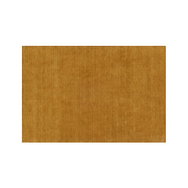 Baxter Gold Yellow Wool 8 X10 Rug Crate And Barrel