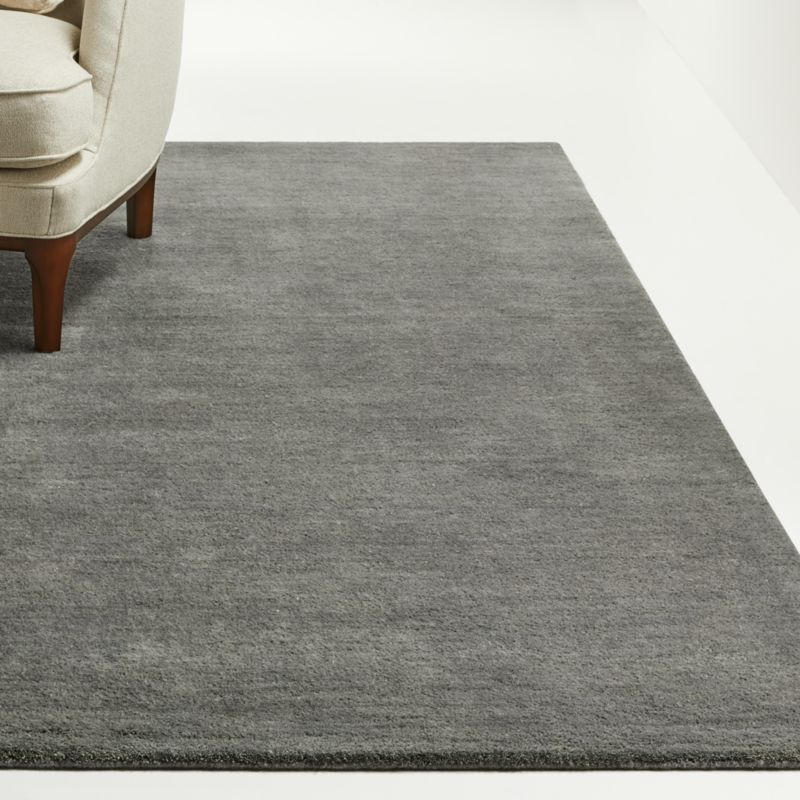 Baxter Grey Wool Rug | Crate and Barrel