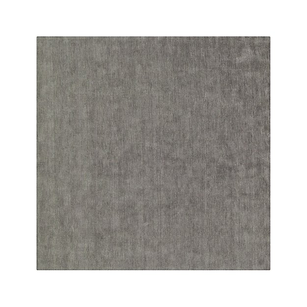 Baxter Grey Wool 8' Square Rug
