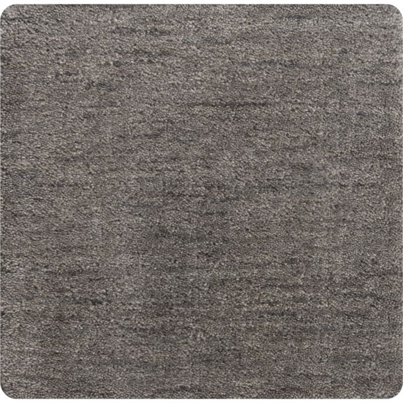 Baxter Grey Wool 12 Sq Rug Swatch Reviews Crate And Barrel