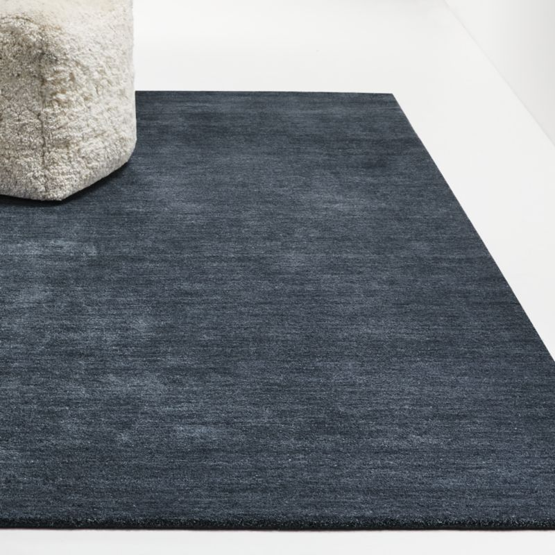 Baxter Navy Blue Wool Rug | Crate and