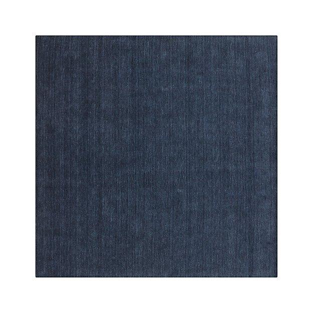 Baxter Indigo Wool 8' sq. Rug