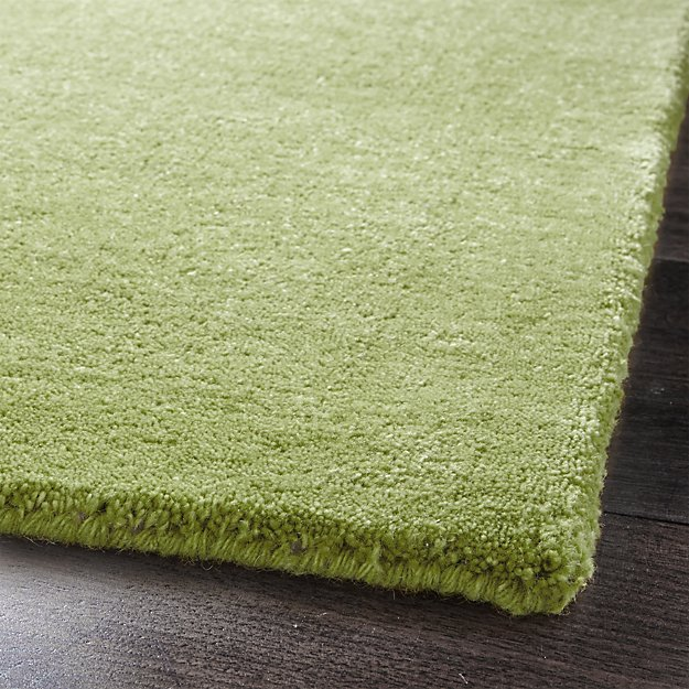 Baxter Lemongrass Light Green Wool Rug 5'x8' In Area Rugs