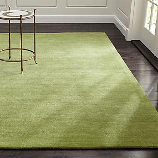Baxter Lemongrass Light Green Wool Rug
