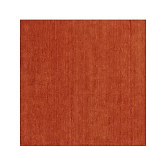 Baxter Marigold Orange Wool Rug 8' sq.
