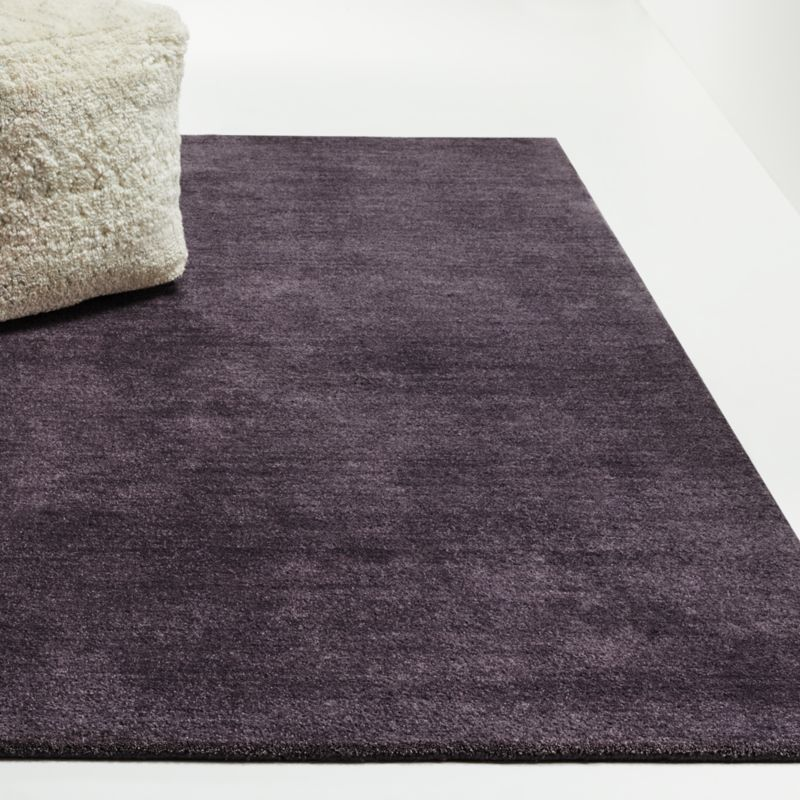 Baxter Plum Purple Wool Rug Crate And