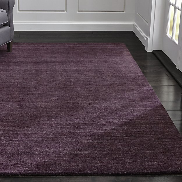 Baxter Plum Purple Wool Rug Crate And Barrel