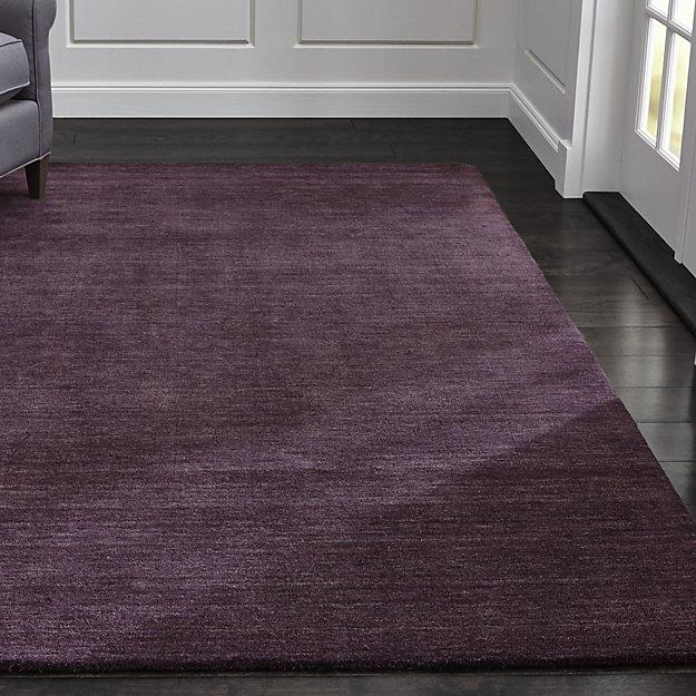 Baxter Plum Purple Wool Rug