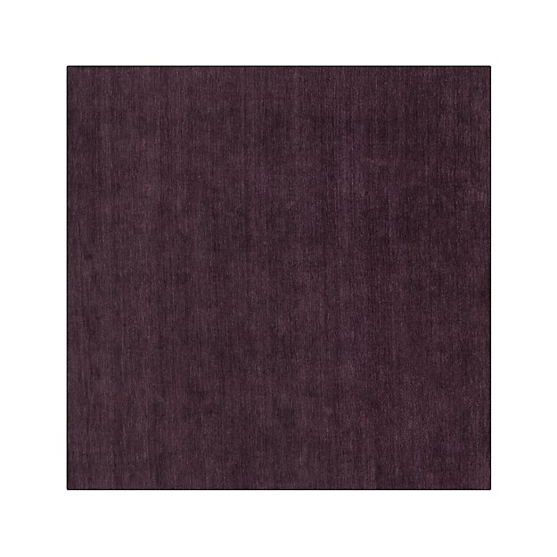 Baxter Plum Purple Wool 8' sq. Rug