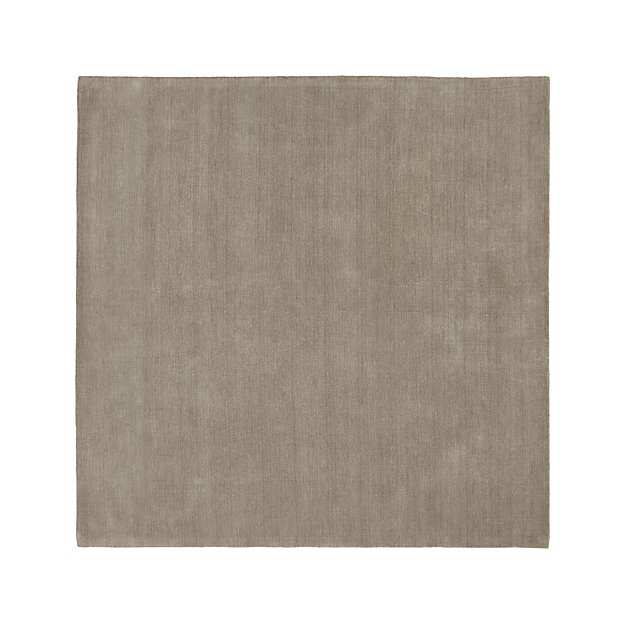 Baxter Putty Wool 8' Square Rug